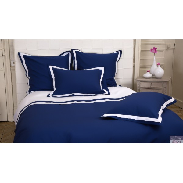 housse de couette bleu marine housse couette bleu marine 240x260 satin de coton housse de. Black Bedroom Furniture Sets. Home Design Ideas